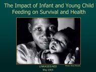 The Impact of Infant and Young Child Feeding on ... - Linkages Project