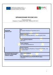 Sprawozdanie Roczne z realizacji Programu ... - Polen 2007-2013