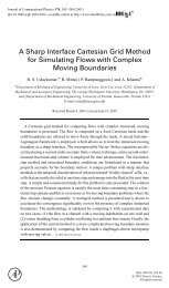 A Sharp Interface Cartesian Grid Method for Simulating Flows with ...