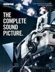 Shure Broadcast Products Brochure