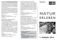 Natur erleben - Volkshochschule Bochum