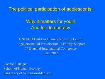 The Political Theories of Adolescents: How they Matter for Democracy