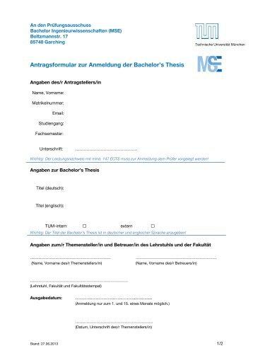 1 Fa - Ingenieurwissenschaften - Technische Universität München