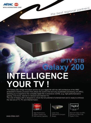 IPTV STB Galaxy 200 INTELLIGENCE YOUR TV - Mitac