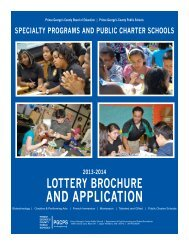 and aPPliCation - Prince George's County Public School System