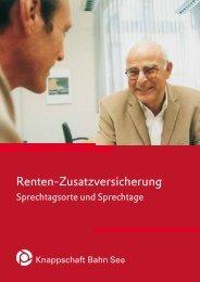 Sprechtagsorte und Sprechtage (PDF/74 KB) - Knappschaft-Bahn-See