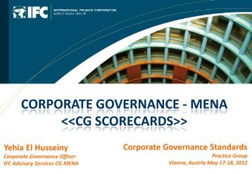 CORPORATE GOVERNANCE - MENA  - IFC