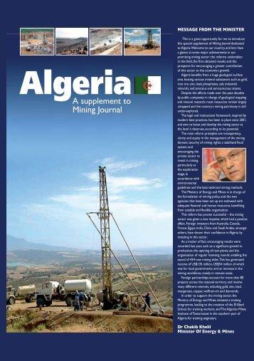A supplement to Mining Journal - Ministère de l'énergie et des mines