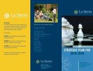 STRATEGIC PLAN FOR 2010-2016 - La Sierra University