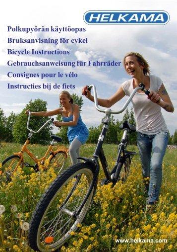 Polkupyörän käyttöopas Bruksanvisning för cykel Bicycle ... - Helkama
