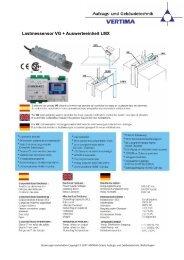 Lastmessensor VG + Auswerteeinheit LMX - Vertima GmbH Aufzugs