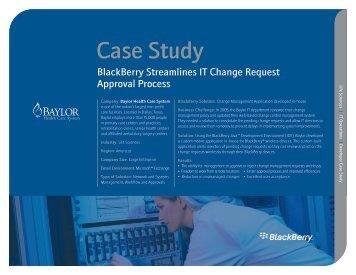 BlackBerry Streamlines IT Change Request Approval Process