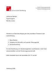 Hinweise zur Berücksichtigung der prioritären ... - ZLH-Hamburg