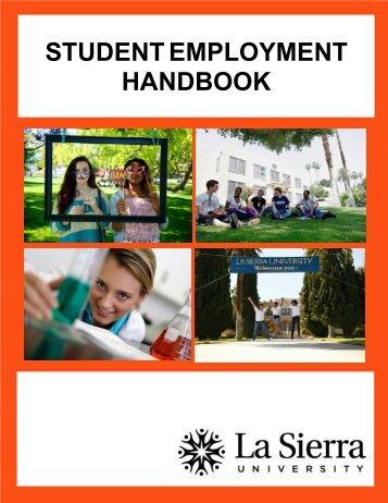 Student Employment Handbook - La Sierra University