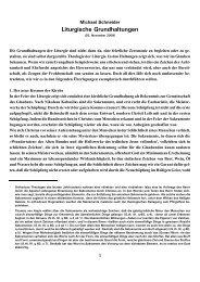 Liturgische Grundhaltungen - Kath.de