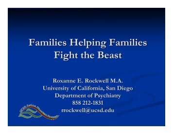 Families Helping Families Fight the Beast - Maudsley Parents