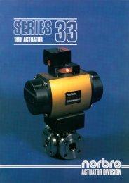 Series 33 180° Pneumatic Actuator - Process Valve Solutions Ltd