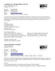 Actions, inc. of brazoria county - City Of Clute, Texas