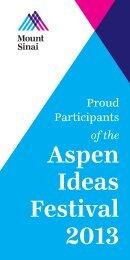 Aspen Ideas Festival 2013 - Mount Sinai Hospital