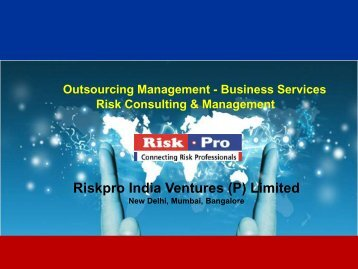Outsourcing Management – Business Services Risk ... - Riskpro