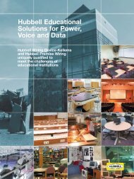 Hubbell Educational Solutions for Power, Voice and Data