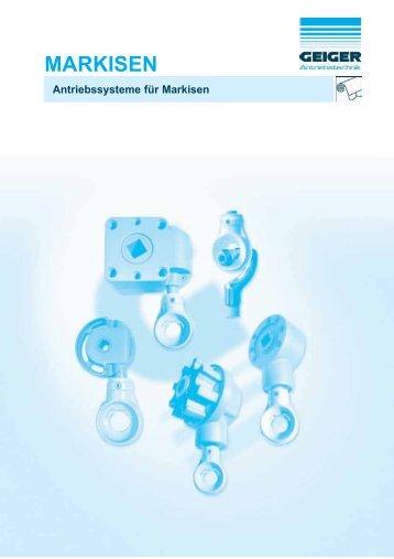 Antriebssysteme für Markisen - Geiger Antriebstechnik