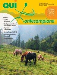 qui montecampione n° 2 giugno - luglio - agosto 2010 - Consorzio di ...