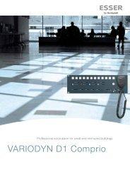 VARIODYN D1 Comprio - ESSER by Honeywell