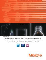 Introduction to Precision Measuring Instrument Solutions - Mitutoyo ...