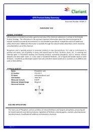 GPS Summary Report 17 Phosphoric acid Final - Clariant