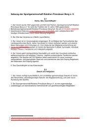 Satzung der Sportgemeinschaft Rotation Prenzlauer ... - SG rotation