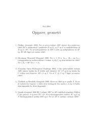 Opgaver, geometri - Georg Mohr-Konkurrencen