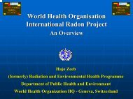 World Health Organisation International Radon Project