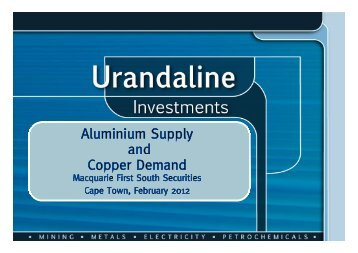 Aluminium - Macquarie