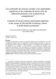 Los contenidos de ciencias sociales y las capacidades cognitivas ...