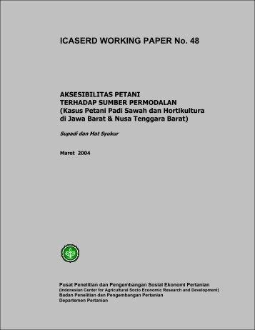 ICASERD WORKING PAPER No. 48 - Pusat Sosial Ekonomi dan ...