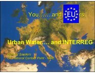 You…….and rs Urban Water…. and INTERREG
