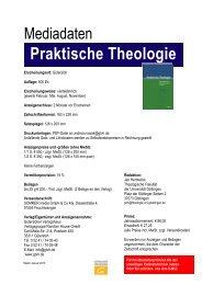 Praktische Theologie - Fachzeitschriften Religion und Theologie