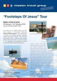 """Footsteps Of Jesus"" Tour - Mission Travel"