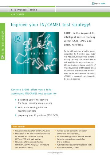 Improve your IN/CAMEL test strategy! - sigos