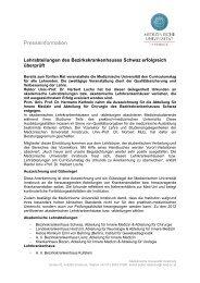 Bericht lesen - Bezirkskrankenhaus Schwaz