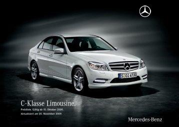 C - Klasse Limousine. - Preislisten