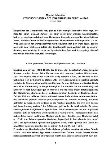 1 Michael Schneider VERBORGENE SEITEN DER - Kath.de