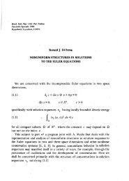 Nonuniform structures in solutions of the Euler equations