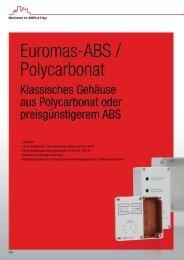 Euromas-ABS / Polycarbonat - Bopla