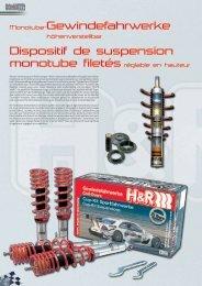 Monotube-Gewindefahrwerke Dispositif de suspension