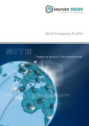 Keynote SIGOS Brief Company Profile