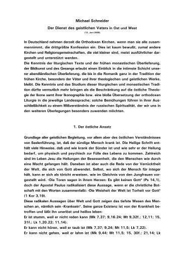 Michael Schneider Der Dienst des geistlichen Vaters in ...  - Kath.de