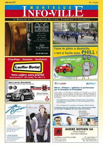 Info-Ville juillet août 2011 - MontreuxInfoVille