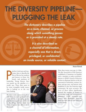 plugging the leak - The Bar Association of San Francisco